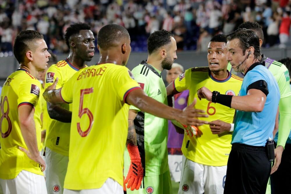 David Ospina, Wilmar Barrios y Dávinson Sánchez, en Selección Colombia