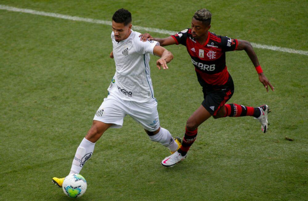 2020 Brasileirao Series A: Santos v Flamengo Play Behind Closed Doors Amidst the Coronavirus (COVID - 19) Pandemic