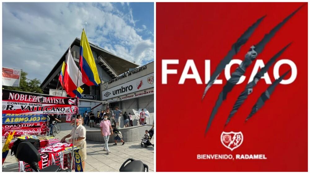 Colombianos en la presentación de Falcao García