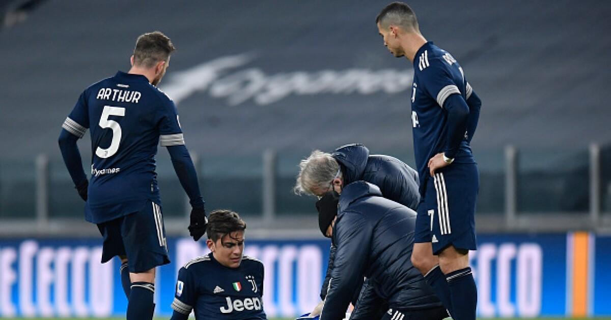 Otra mala noticia para Juventus: Paulo Dybala se retiró lesionado contra Sassuolo