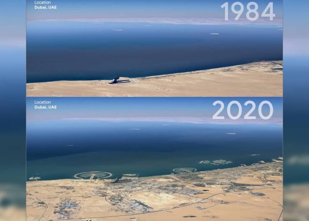 Dubai a través del 'Timelapse' de Google Earth