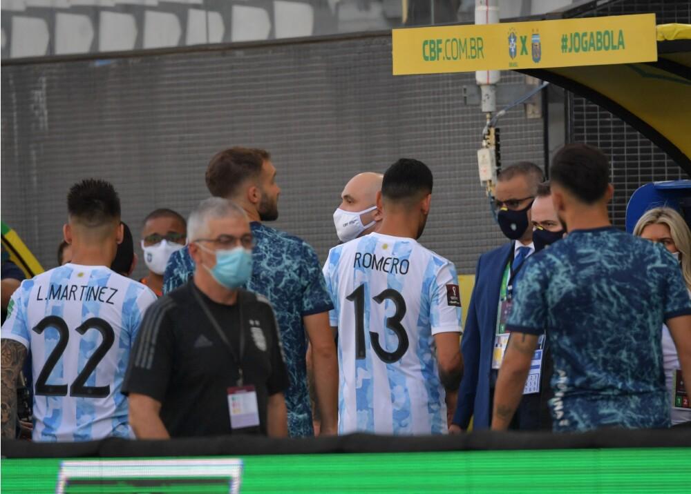 Jugadores argentinos en Sao Paulo Foto AFP.jpg