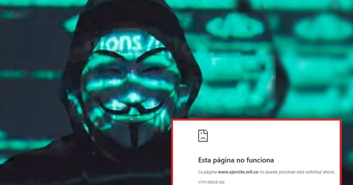 Anonymous se atribuye hackeo a la página del Ejército Nacional