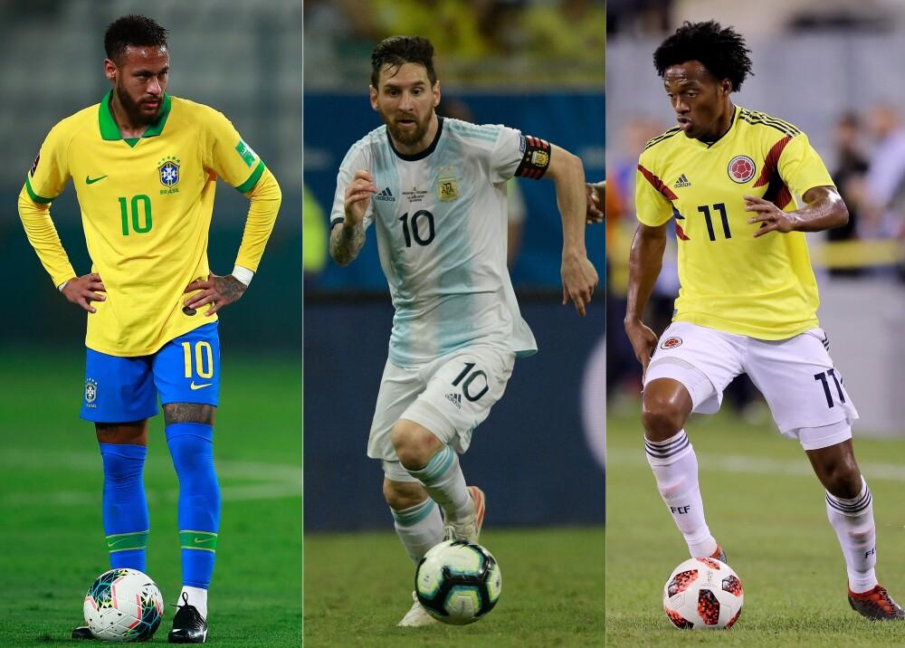 Neymar Messi Cuadrado AFP.