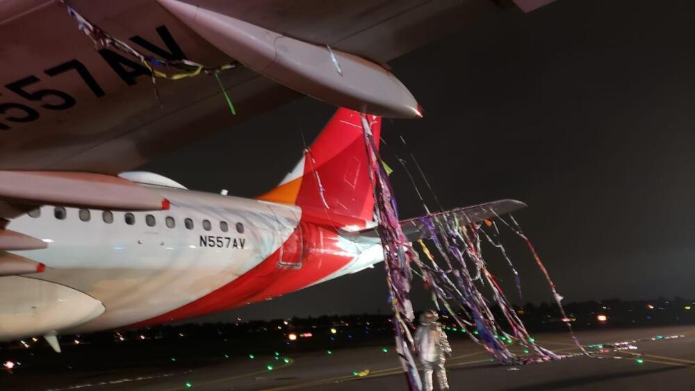 Avión afectado. Foto redes sociales.jpeg