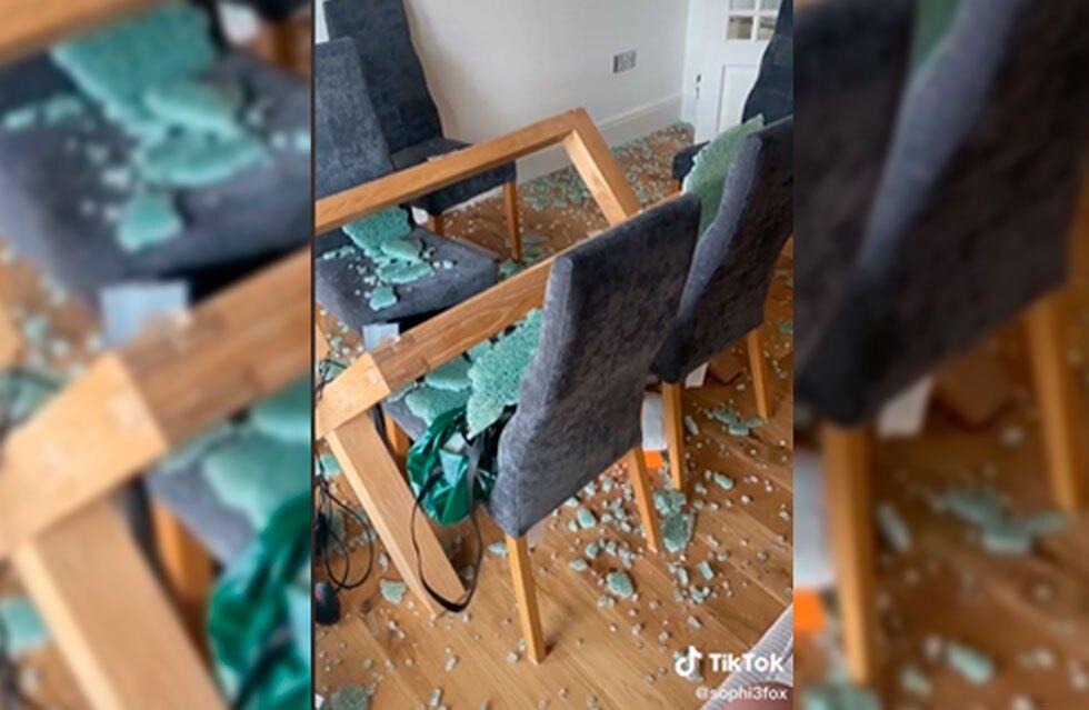 Vidrio de mesa del comedor explotó mientras familia dormía