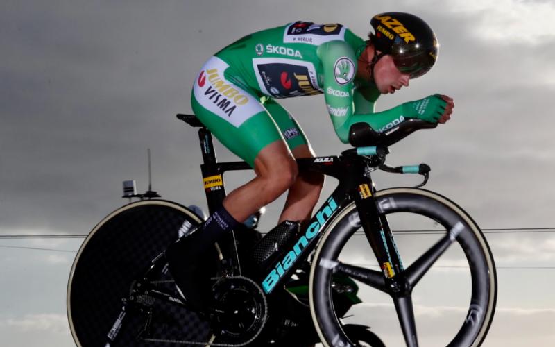Primoz Roglic, ganador de la etapa 13 de la Vuelta a España 2020. Cortesía: @PhotoGomezSport