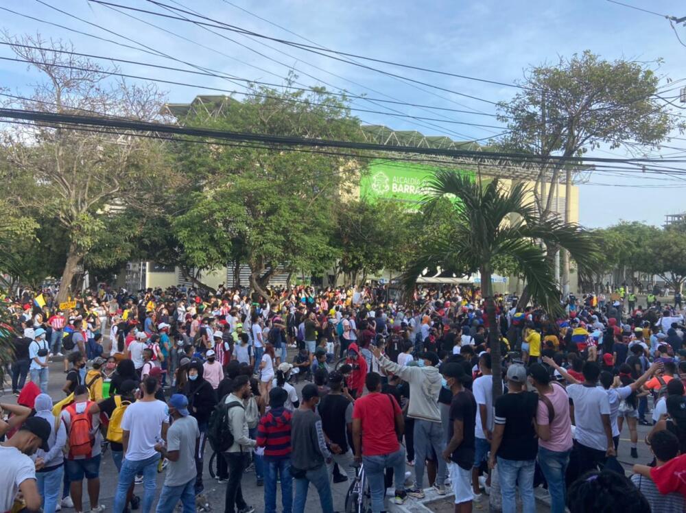 Protestas en Barranquilla