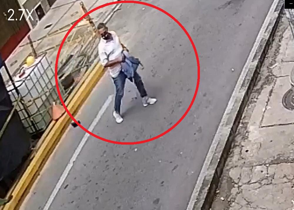367146_Ladrón captado en cámara robando a trabajadores de la ciclorruta / Foto: suministrada