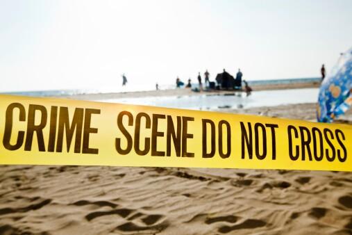 Escena del crimen playa