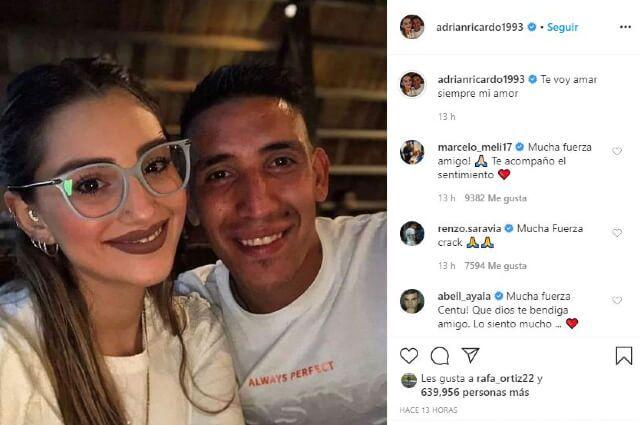 333863_Ricardo Centurión con su novia Melody Pasini.