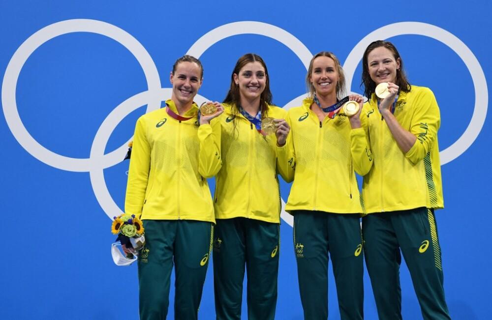 El equipo de natación de Australia