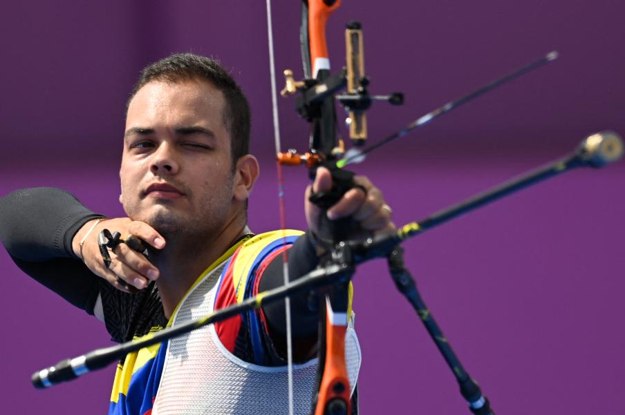 Daniel Pineda perdió frente a Shaoxuan Wei en el tiro con arco de los Juegos Olímpicos de Tokio 2020.