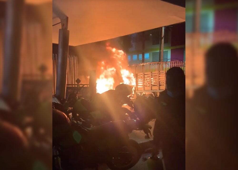 incendiaron la estacion de policia en madrid cundinamarca.jpg