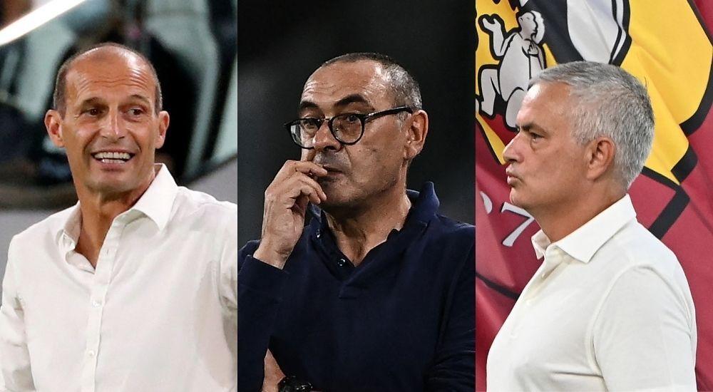 Allegri, Sarri y Mourinho