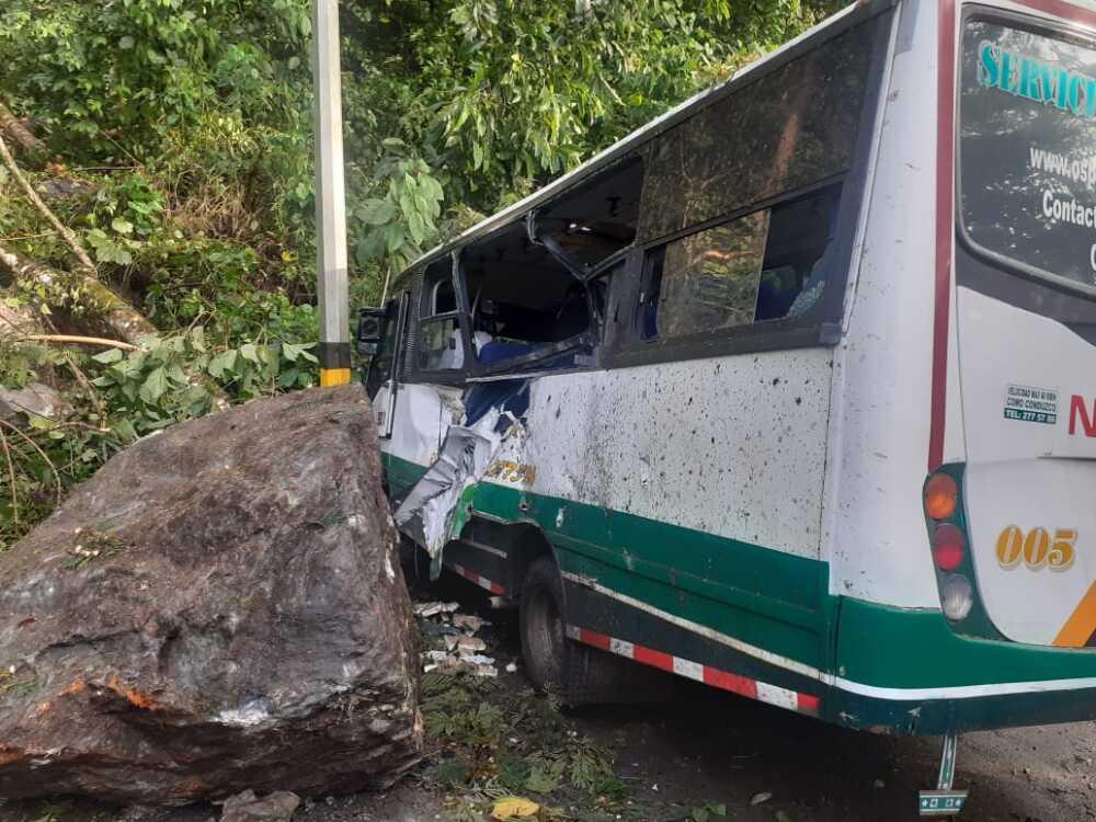 accidentde bus con contratistas de EPM en Anorí