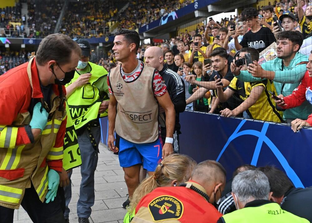 Cristiano Ronaldo noqueó a guardia de seguridad  Foto AFP.jpg