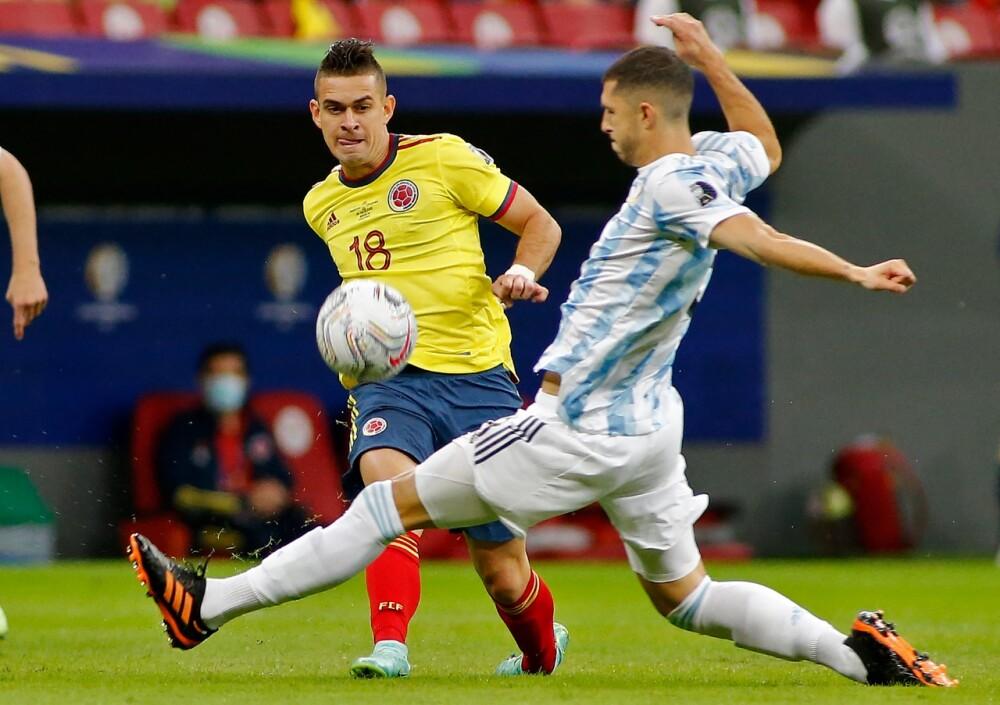 Partido entre Colombia y Argentina, semifinal Copa América. AFP.jpeg