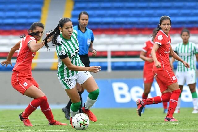 América de Cali contra Atlético Nacional, en la Liga Femenina