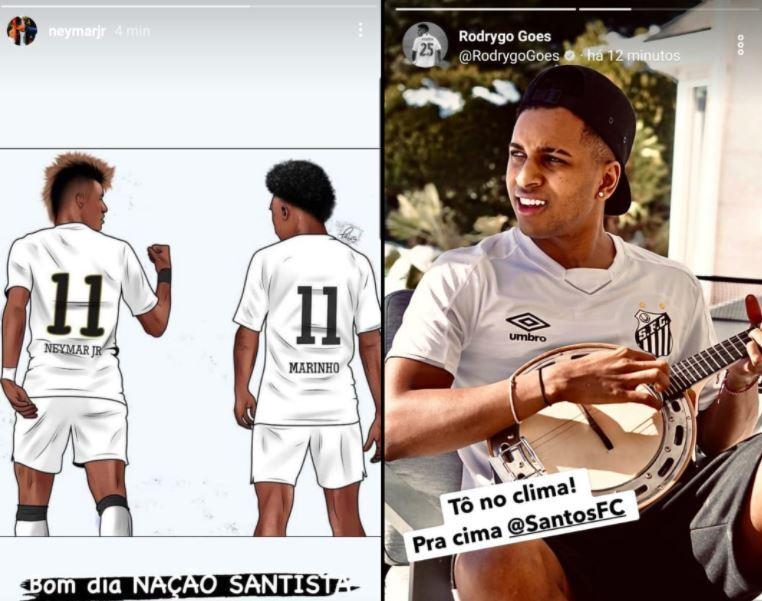 Neymar Rodrygo Santos 130121 Twitter E.JPG