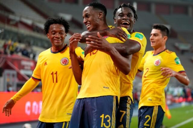 Selección Colombia de Fútbol: Duván Zapata, Yerry Mina, Estefan Medina y Juan Cuadrado
