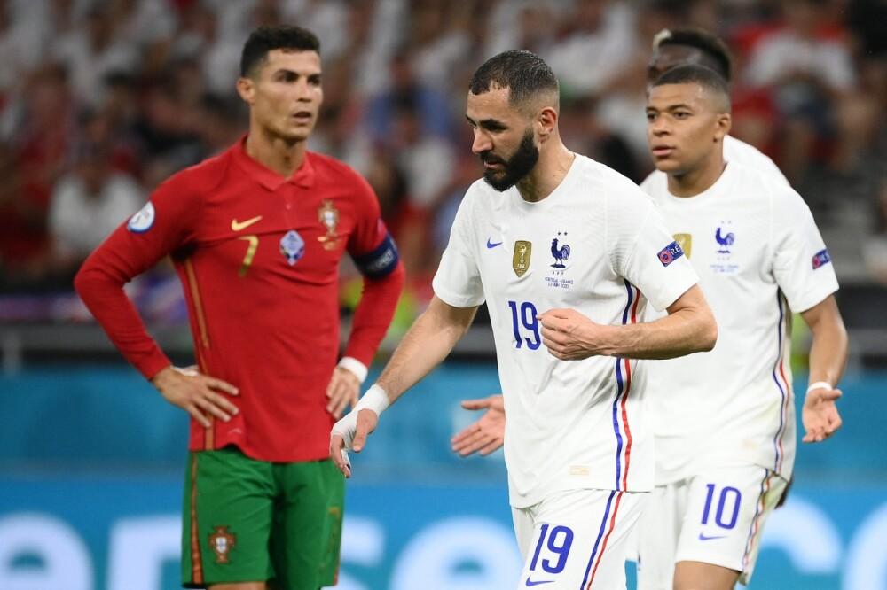 Portugal Francia Ronaldo Benzema AFP.