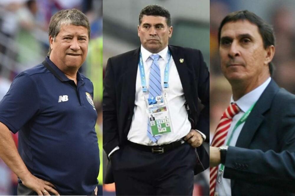 Hernán Darío Gómez, Luis Fernando Suárez y Alexandre Guimarães