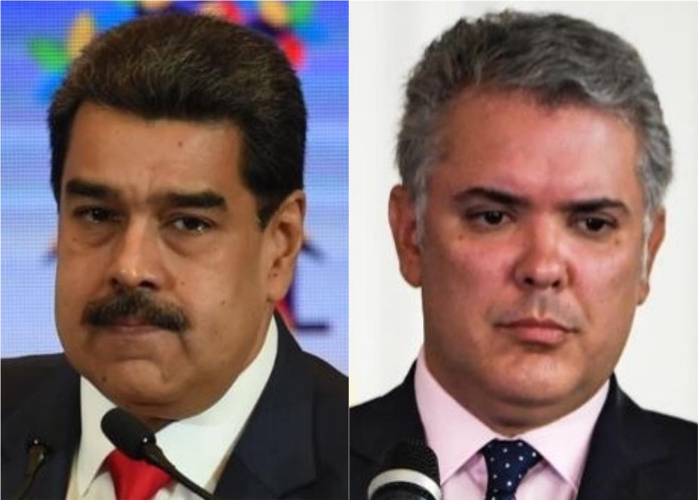 349650_BLU Radio. Nicolás Maduro y Iván Duque Márquez // Foto: AFP