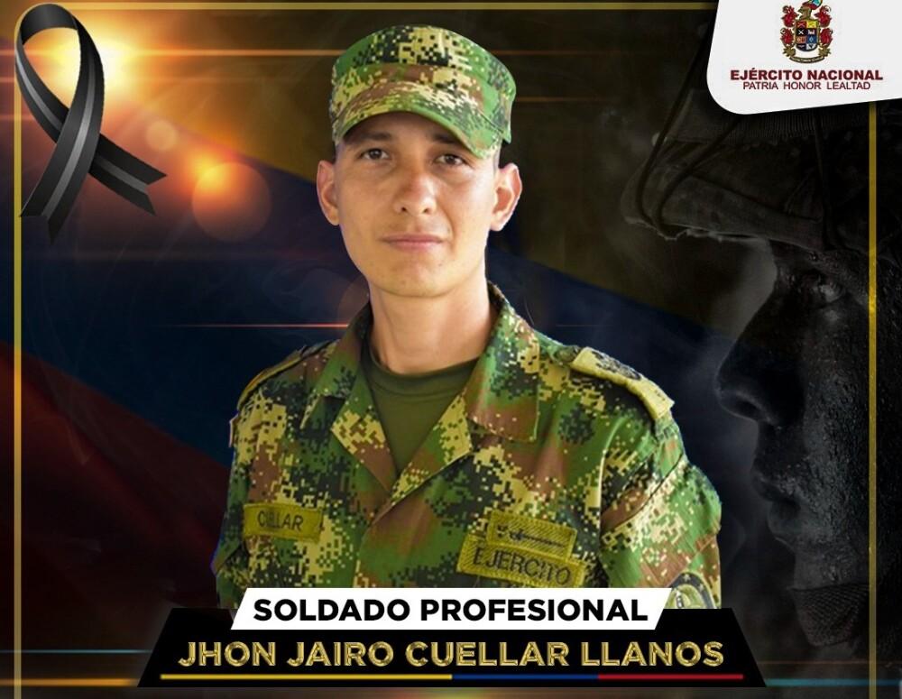 Soldado profesional John Jairo Cuéllar Llanos