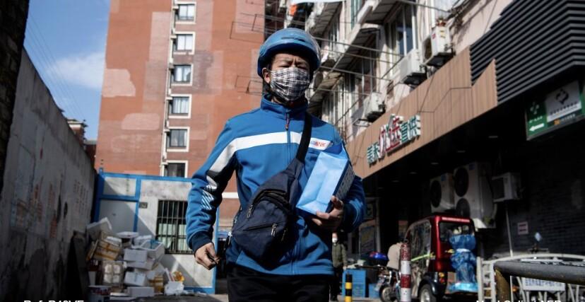 Repartidor en China
