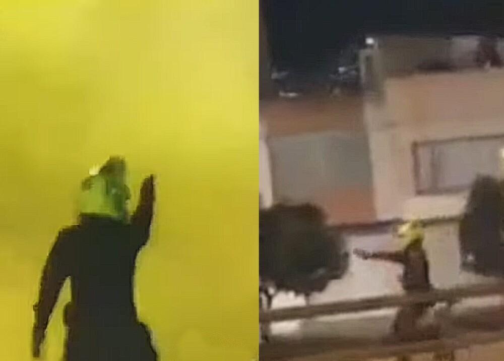 """Policías que estuvieron disparando contra manifestantes en el """"9S"""""""
