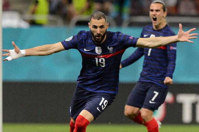 Karim Benzema, en la selección de Francia