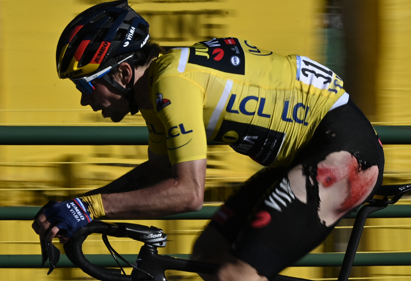 Primoz Roglic perdió el título de la París-Niza en la última etapa.