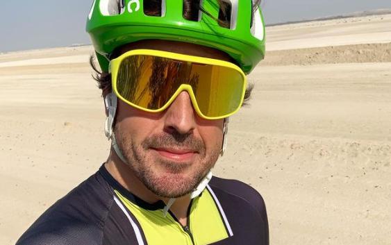 Fernando Alonso tuvo un accidente en Lugano (Suiza) el pasado 11 de febrero mientras montaba en bicicleta.