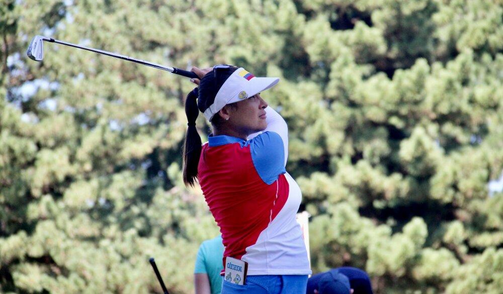 María José Uribe, en el golf de los Juegos Olímpicos de Tokio 2020