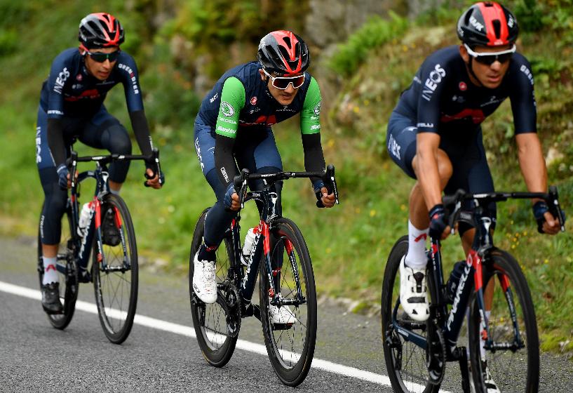 Richard Carapaz en la Vuelta a España 2020.