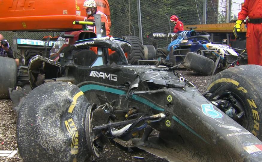 Valtteri Bottas tuvo un accidente en el GP de Emilia Romaña de Fórmula 1.