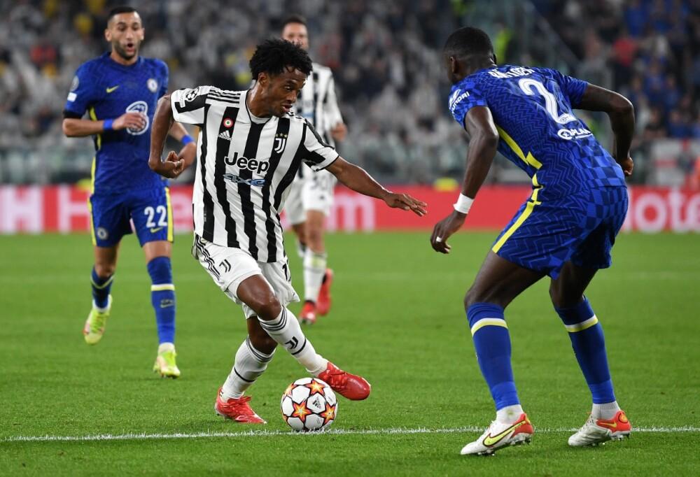 Juan Guillermo Cuadrado, titular en Juventus vs. Chelsea