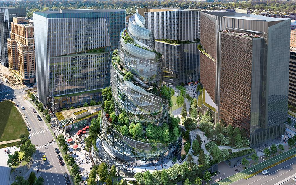 Edificio 'The Helix' de Amazon en Estados Unidos
