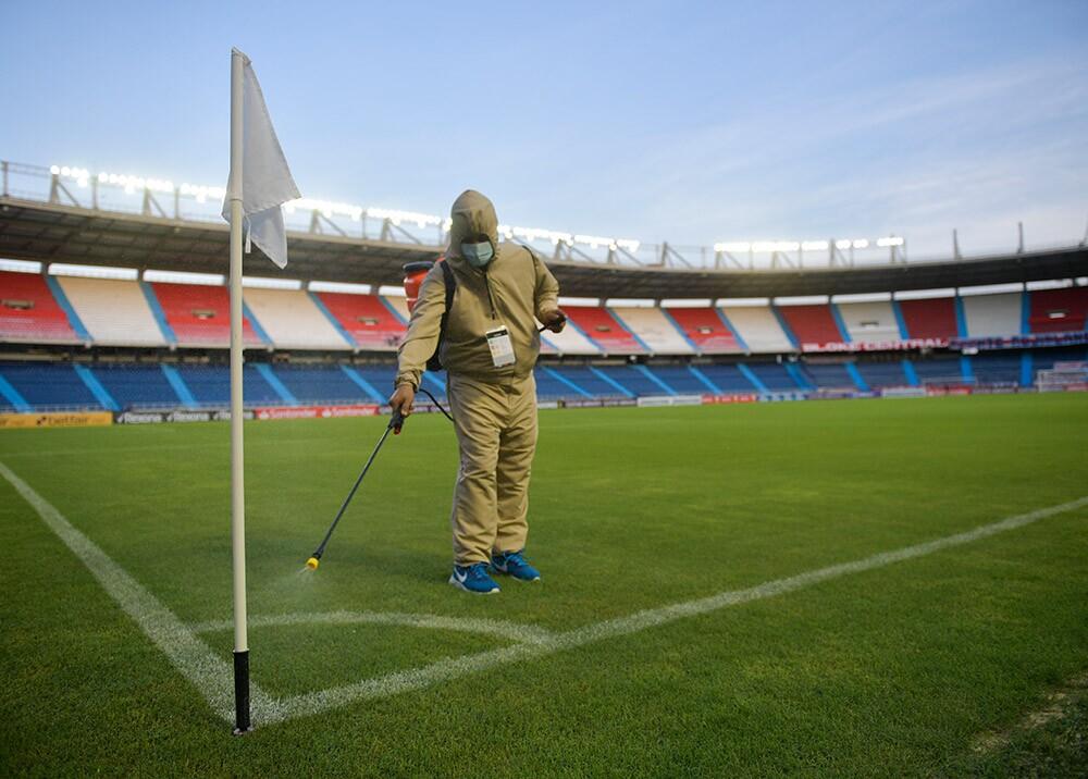 Estadio Metropolitano en la pandemia // Foto: AFP