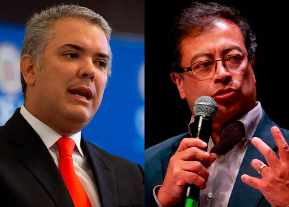 374245_Iván Duque y Gustavo Petro // Fotos: AFP