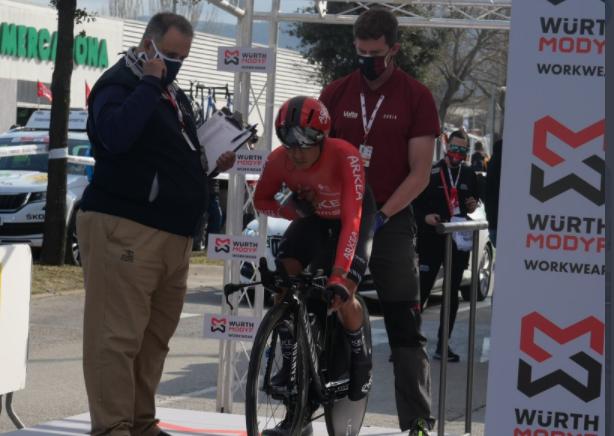 Nairo Quintana no se sintió a gusto en la contrarreloj de la Vuelta a Cataluña.