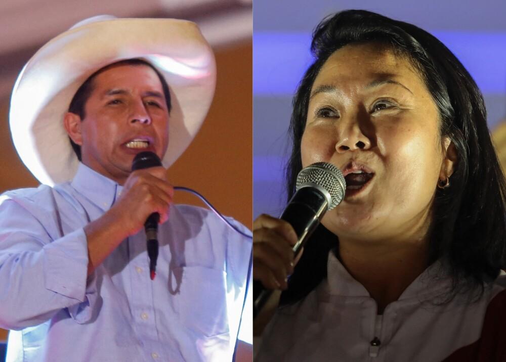 Pedro Castillo y Keiko Fujimori Foto AFP.jpg