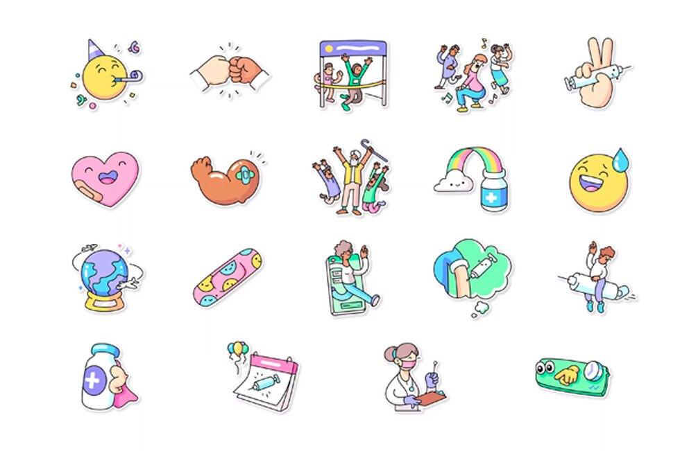Stickers de vacunas en WhatsApp