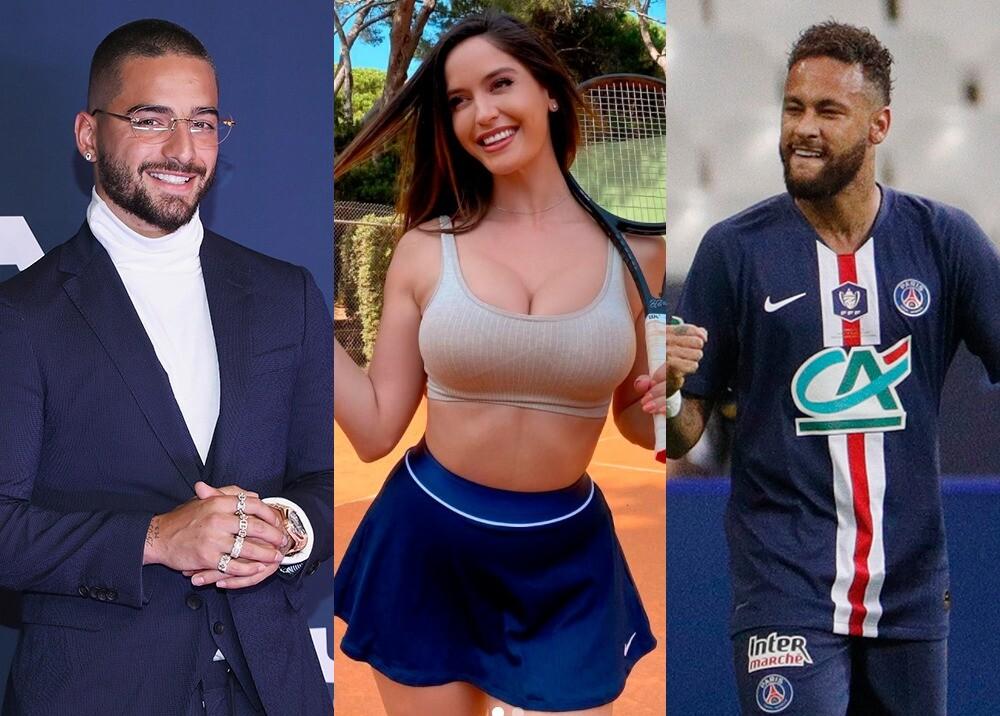 374962_Maluma, Natalia Barulich y Neymar // Fotos: AFP e Instagram Natalia Barulich
