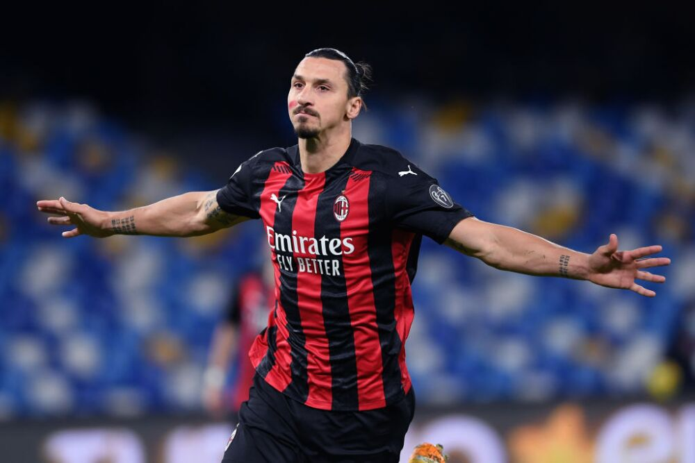 Zlatan Ibrahimovic Napoli v AC Milan