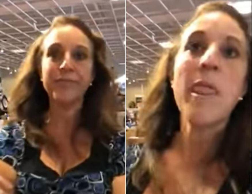 Debra Jo Hunter , mujer que tosió a otra en supermercado