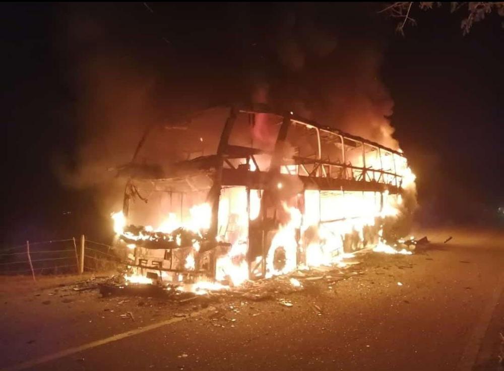 Incineración de bus en Arauca