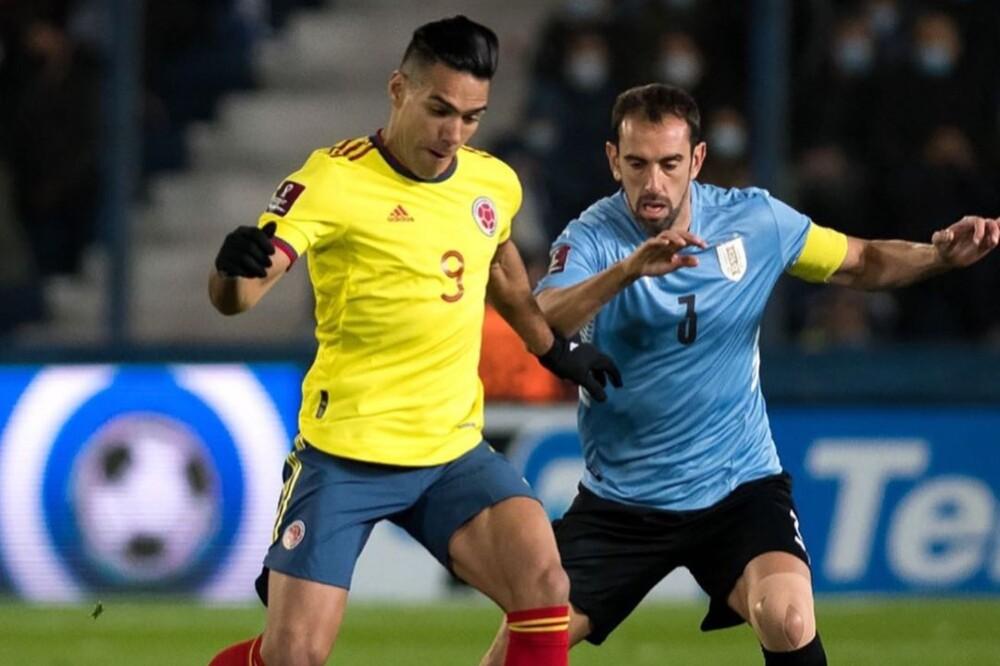 Radamel Falcao García, en Uruguay vs. Colombia