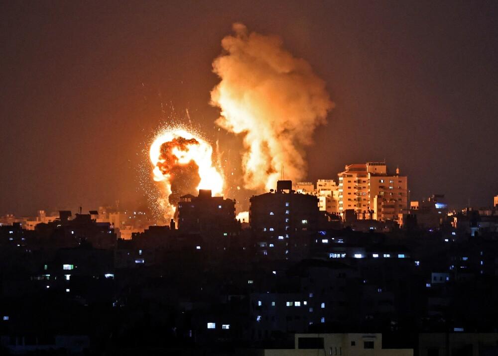 Bombardeos en Gaza Foto AFP.